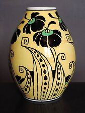 Vase Art Deco Boch Keramis Ch Catteau