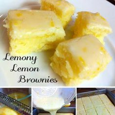 Zesty lemon brownies perfect for summertime.