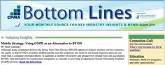 """NoteVault in CFMA newsletter """"Mobile Strategy: Using COPE as an Alternative to BYOD"""""""