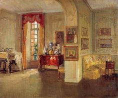 Walter Gay  Interior of Château du Bréau  1910