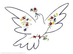 Art Print: Dove of Peace Art Print by Pablo Picasso by Pablo Picasso : 12x16in