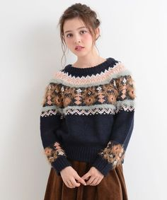 Fair Isle Pullover, Icelandic Sweaters, Aesthetic Women, How To Purl Knit, Fair Isle Knitting, Knit Fashion, Knitting Designs, Knit Patterns, Knitwear