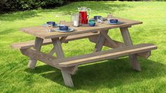 Pressure-Treated 8ft Picnic Table