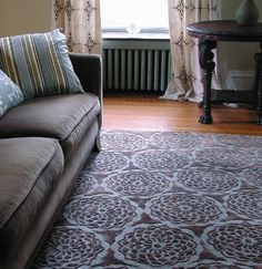 """Pizelle"" rug in chocolate and ocean, from Galbraith & Paul"