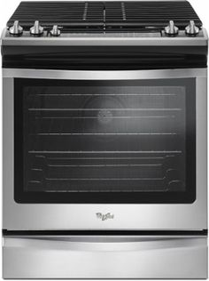 Whirlpool - 5.8 Cu. Ft. Self-Cleaning Slide-In Gas Convection Range - Stainless steel - Front_Standard