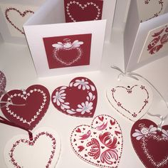 Give any of our Painting kits a festive makeover by painting the designs in a red and white colour palette. Add a touch of grey and glamour dust if the mood takes you. Kits available from www.folkit.co