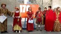 170°Stagi, rievocazione storica dell'arrivo di Michelangelo Buonarroti a Pietrasanta. Ass. culturale Sprocco e Liceo artistico Stagio Stagi. 19 aprile 2013.