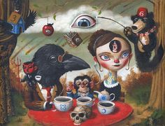 Mark Brown. Mark Brown, Weird Art, Strange Art, Strange Things, Surreal Artwork, Brown Art, Lowbrow Art, Big Eyes, E Design
