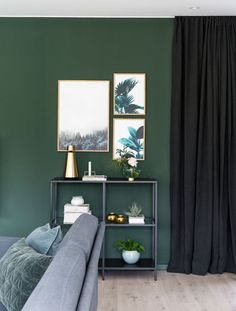 Nice Deco Chambre Vert Emeraude that you must know, You?re in good company if you?re looking for Deco Chambre Vert Emeraude Ikea Inspiration, Decoration Inspiration, Interior Inspiration, Green Dining Room, Dark Green Walls, Modern Interior, Interior Design, Home Office Colors, Living Room Shelves