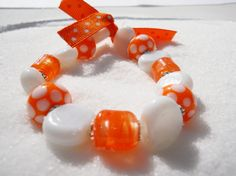 Custom Lampwork Bracelet  in COLORS of your choice! Choose 2!