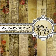 SALE shabby papers grunge paper digital background by Stilboxx