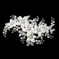 Freshwater Pearl Flower Wedding Hair Clip c9636