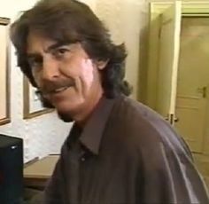 An original screen shot of George taken from an Entertainment Tonight Tribute special