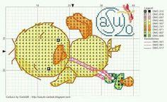 ♥Meus Gráficos De Ponto Cruz♥: Patinhos em Ponto Cruz (Enxoval do Bebê)                                                                                                                                                     Mais