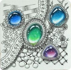 Zentangle-Gems - Wunderschöne Edelsteine! | Freude mit Zentangle