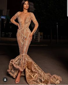 Long Sleeve Evening Dresses, length Mother of Bride Ball Gowns Prom Girl Dresses, Prom Outfits, Glam Dresses, Bridal Dresses, Fashion Dresses, Couture Dresses Gowns, Evening Gowns Couture, Dresses Elegant, Pretty Dresses