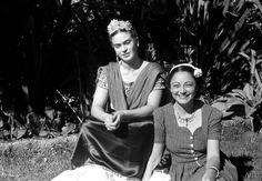 Frida Kahlo and Rosa Covarrubias