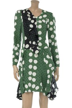 Marni Polka dot-print silk dress - 65% Off Now at THE OUTNET