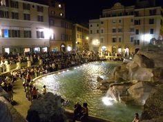 Trevi Fountain - Night time