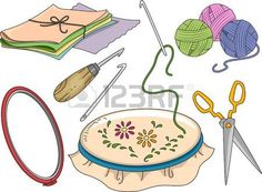 yarn: Illustration Featuring Different Materials Used in Rug Hooking