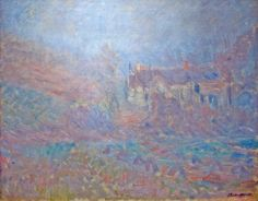 Houses at Falaise in the Fog by Claude Monet