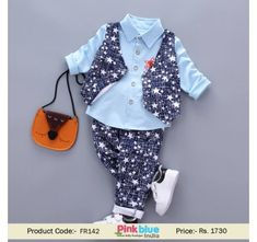 b48336fb2 4 Pieces Baby Boy Formal Outfit Set - Toddler Waistcoat Suit with Shirt and  a Pant with Bowtie