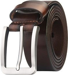 Blasea Full Grain Leather Casual Style Pin Buckle Jeans Belts for men.  Amazon.co 493facd4bb9