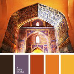 amarillo vivo, anaranjado, anaranjado y amarillo, bermejo, color naranja rojizo, coral, de color violeta, limón, marrón y violeta, rojo coral, rojo naranja, rojo y marrón.