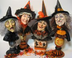 Light and Shadow studio. Halloween witch busts and many more pieces.