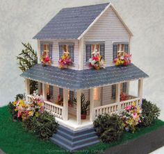 Handcrafted 144th Scale Emma's Dollhouse at Norman's Country Creek