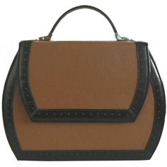steven harkin BB retro style handbag ($531) ❤ liked on Polyvore featuring bags, handbags, shoulder bags, purses, brown hand bags, retro purse, vintage metal purse, brown purse and brown shoulder bag