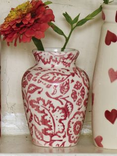Emma Bridgewater Pink Wallpaper Mustard Pot 2014