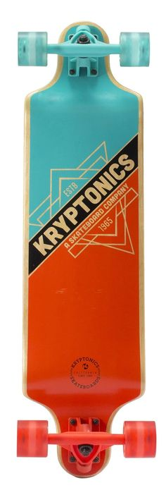 "Amazon.com : Kryptonics Drop Down Longboard Complete Skateboard, Triangles, 32"" X 8"" : Sports & Outdoors"