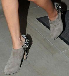 Selena Gomez wearing Sam Edelman 'Renzo' studded ankle booties