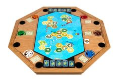 Seafarers 5-6 Player Expansion Piece on Oak Settlement Series Table In-Use