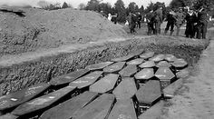 Lusitania mass grave in Kinsale. Photo: A.H. Poole Lusitania Collection, National Library of Ireland.