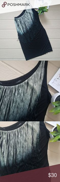"""Zara Ombre Fringe One Shoulder Dress S Small Zara Trafaluc black, one shouldered body on dress with long ombre fringe trim. Fabric is a cotton blend with stretch. Unlined. Very good condition with no signs of wear. Care tag has been removed. Size US small. True to size. Dress has lots of stretch so it can accommodate a range of bust and hip sizes. Length is 32"""", slightly above the knee. Zara Dresses One Shoulder"""