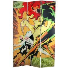 Amazon.com - Oriental Furniture 6-Feet Tall Double Sided The Uncanny X-Men Room Canvas Divider - Panel Screens