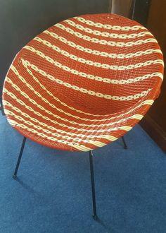 Original 1960s original basket/bucket chair, iconic retro piece
