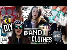 DIY BAND Clothes: No Sew T-shirts, Beanie, Dress, and Merch! - YouTube  Love her so much
