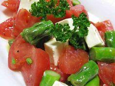 アスパラ・トマト・チーズの3色サラダ♪の画像