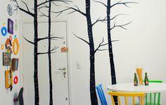 Dicas para decorar a parede gastando pouco!   alineando.com.br #decoração #casa #parede #pintura #mural #quadros #decor #decoration #wall #blackandwhite