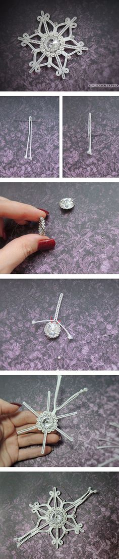 How to make soutache brooch. Click on image to see step-by-step tutorial