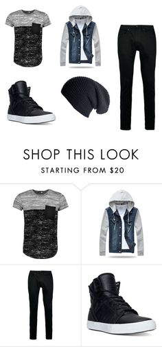 """Men's outerwear"" by katie81330 on Polyvore featuring Boohoo, Topman, Supra, Black, men's fashion and menswear"