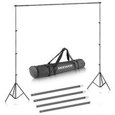 Neewer® Background Stand Support System x x Kit with Carrying Case for Muslins Backdrops,Paper and Canvas Kit Studio, Accessoires Photo, Continuous Lighting, Muslin Backdrops, Led Ring Light, Still Life Photos, Camera Photography, Product Photography, Photo Studio