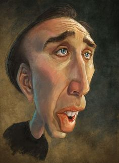 Nicolas Cage Caricature on Behance Funny Caricatures, Celebrity Caricatures, Celebrity Drawings, Caricature Artist, Caricature Drawing, Drawing Art, Funny Face Drawings, Funny Faces, Cartoon Faces