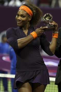 """Serena Williams Debuts @ Qatar Total Open 2013 as Runner-up: Loses 6(6)-7, 6-2, 3-6. Serena Hit 11 ACES & 51 Winners! Total points won: Vika-105; Serena-103. """"I'm definitely not happy, but I'm #1,""""(smiling). """"It was such a long journey, & after winning Wimbledon & the USO & the  Championships, I thought, I just don't think I can win anymore. I don't know what it takes to be #1. So it was awesome to come here & achieve that goal."""" #Rewards"""