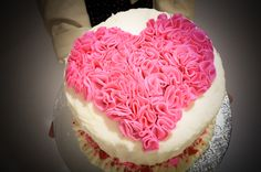 Pretty Pink Heart Cake in this sweet Puppy Love Valentine's Day Party on www.prettymyparty.com.