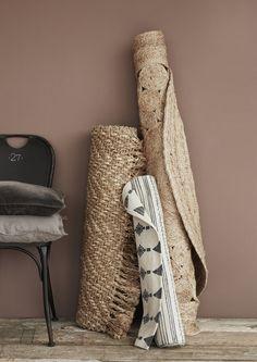 Beautiful rattan rugs, handmade. Get them at Molly Marais.