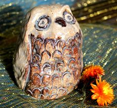 Handmade Owl Art Decor Clay Owl Pottery Owl by inHIShandsart, $19.00